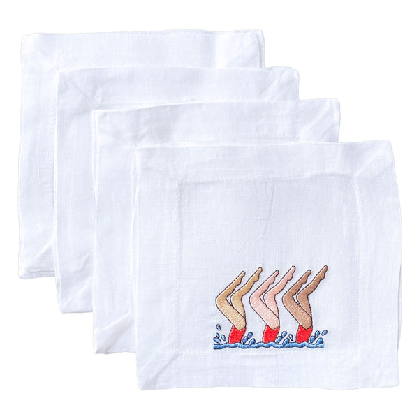 Lettermade: Synchronized Swimmer Cocktail Napkins