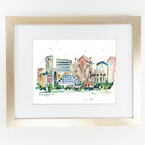 Erika Roberts Studio: Birmingham Watercolor Fine Art Print - SB Shop