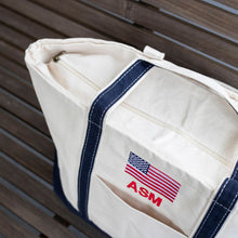South of Hampton: American Flag Boat Tote
