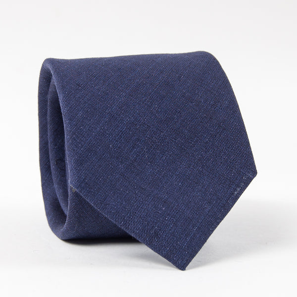 Collared Greens: Men's Tie (Linen Navy)