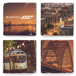 ARCHd: Memphis, TN Downtown Photography Marble Coasters
