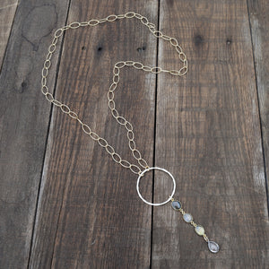 Amy Wells Designs: With a Girl Like You Matte Gold Necklace