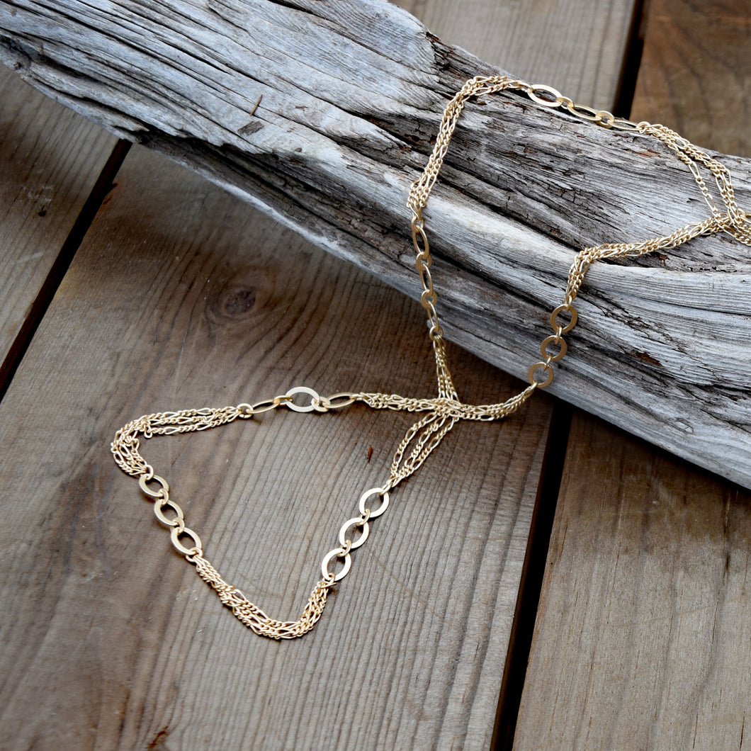 Amy Wells Designs: Laurie Necklace in Matte Gold