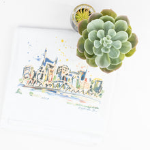 Erika Roberts Studio: Nashville Watercolor Tea Towel