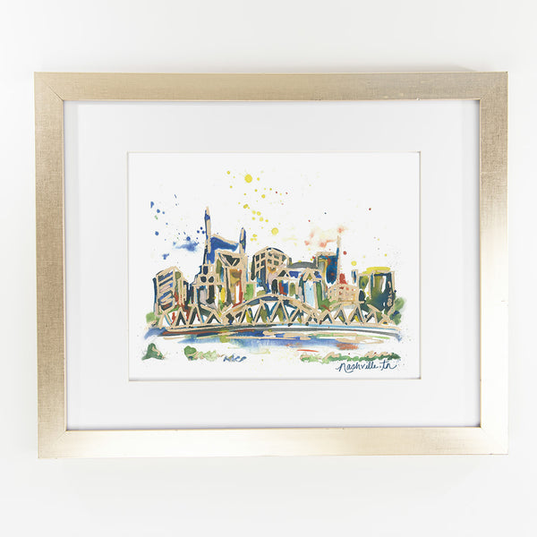 Erika Roberts Studio: Nashville Watercolor Fine Art Print - SB Shop