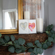 Carrie Pittman Art: Acrylic Framed Hearts