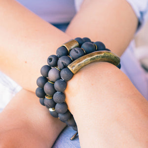 SB + OMI Beads: Classic Matte Black Trio Set