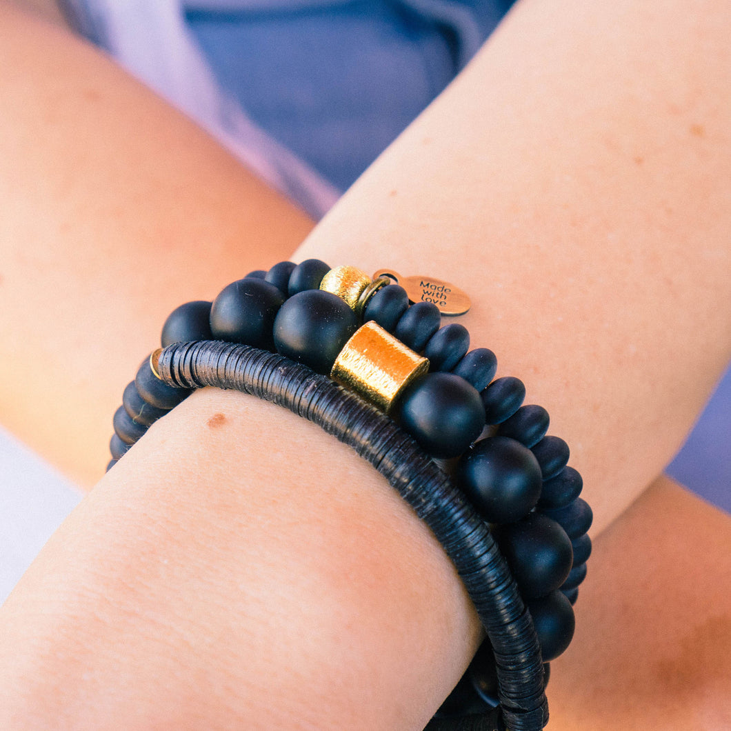 SB + OMI Beads: Black Trio Set