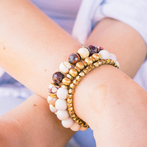 SB + OMI Beads: Gold & Burgundy Trio Set - SB Shop