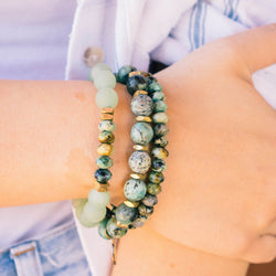 SB + OMI Beads: Green Trio Set