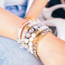 SB + OMI Beads: Grey & Gold Set of Five - SB Shop