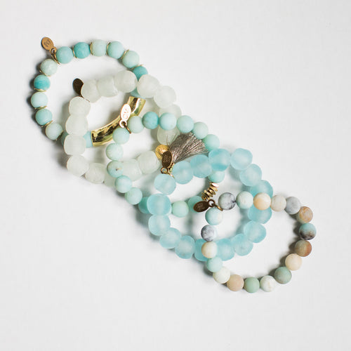 SB + OMI Beads: Summer Sea Glass Set