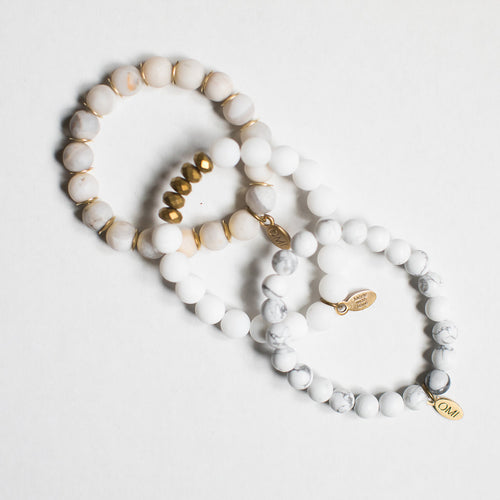 SB + OMI Beads: Summer White Trio