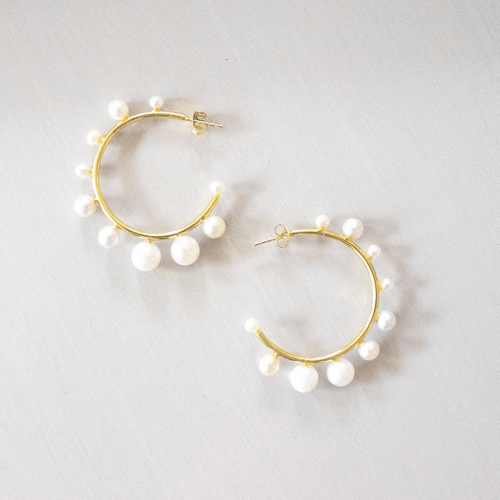 Ever Alice: Pearl Hoops