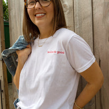 be kind do good: Embroidered White Tee