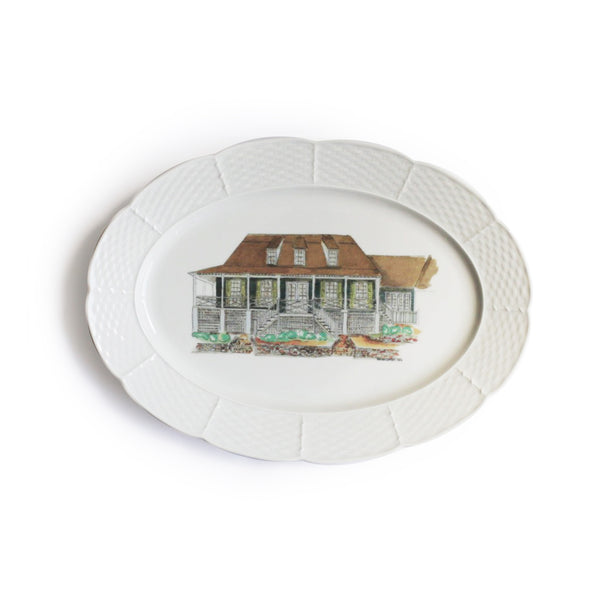 Custom Home Portrait and Oval Platter