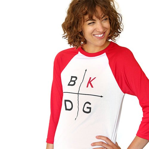 BKDG: Red Baseball T-Shirt