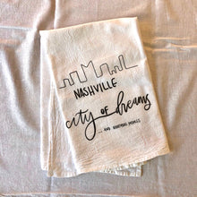 Flour Sack Tea Towel: City of Dreams... And Nightmare Potholes