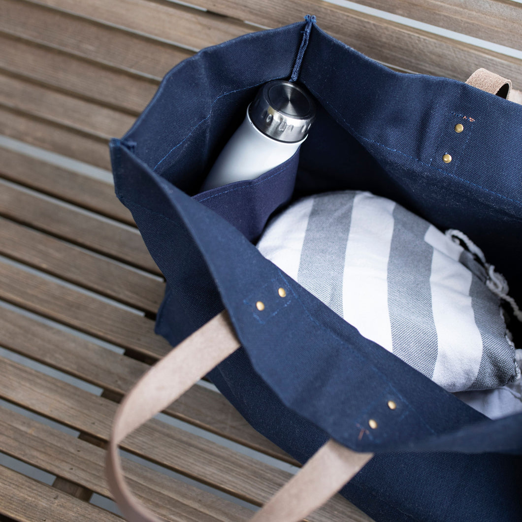 South of Hampton: Navy Boat Tote