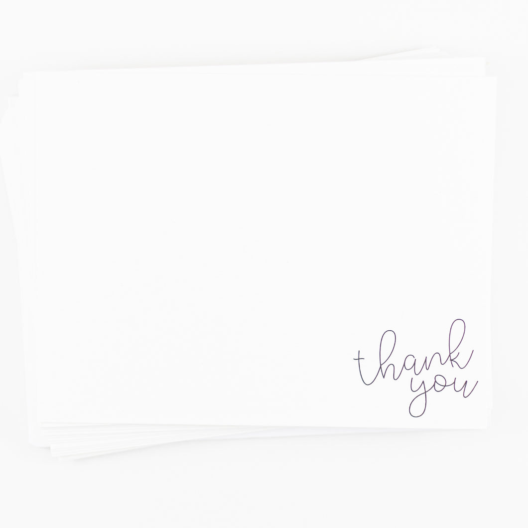 Set of 25 Thank You Cards