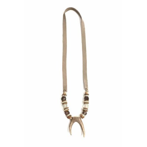 Antler Slim Tips Necklace