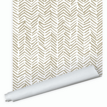 Dwell & Good: Herringbone Strokes Wallpaper - SB Shop