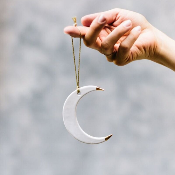 Handmade Studio TN: Gold Dipped Moon Ornaments