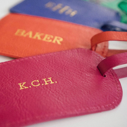 South of Hampton: Leather Luggage Tag