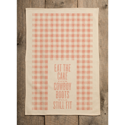 Southern Fried Design Barn: Eat The Cake Kitchen Towel
