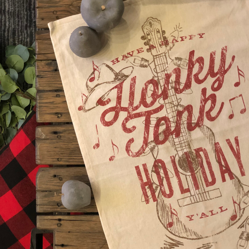 Southern Fried Design Barn: Honky Tonk Holiday Kitchen Towel - SB Shop