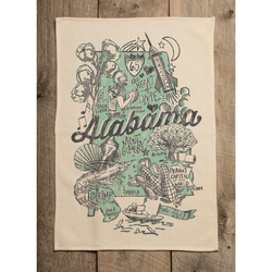 Southern Fried Design Barn: Alabama Kitchen Towel