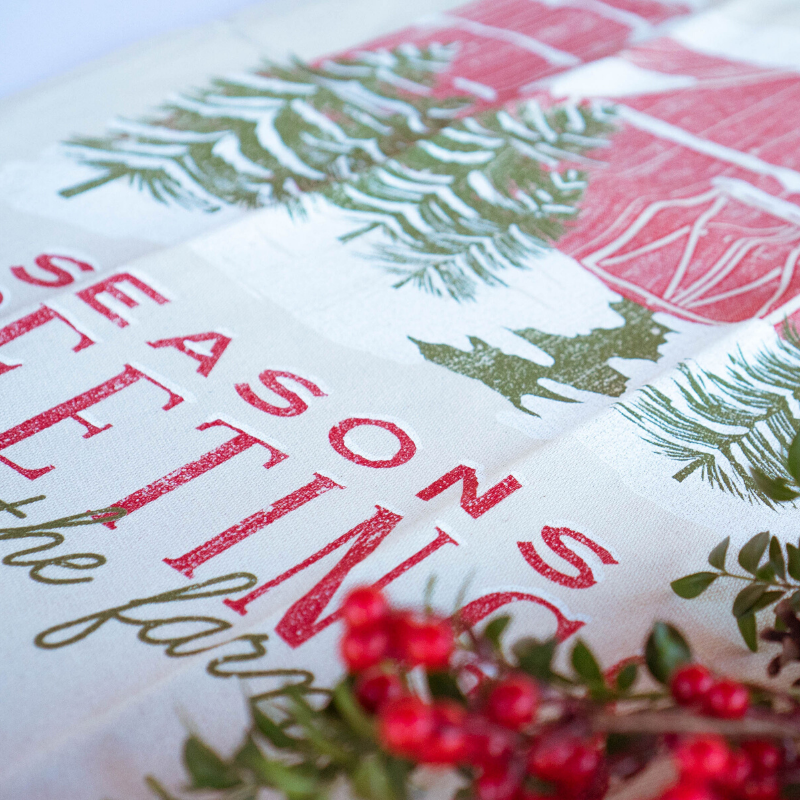 Southern Fried Design Barn: Seasons Greetings Kitchen Towel