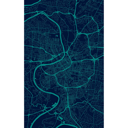 Dwell & Good: Nashville Map Vinyl Indoor Outdoor Rug - SB Shop
