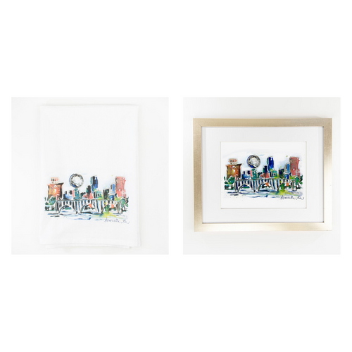 Erika Roberts Studio: Knoxville Watercolor Fine Art Print + Tea Towel Gift Set - SB Shop