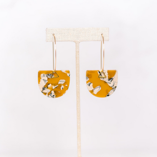 Hearne Dry Goods: Yellow Acetate Earrings