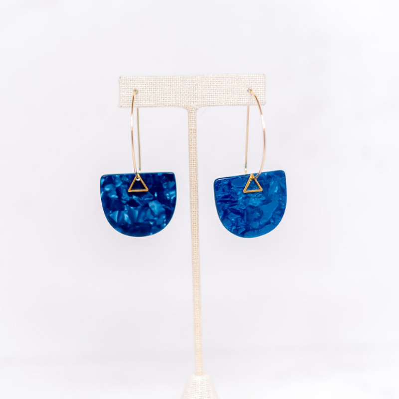 Hearne Dry Goods: Blue Acetate Earrings