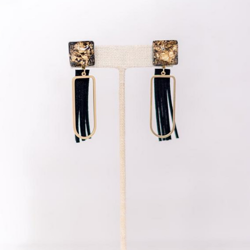 Hearne Dry Goods: Black Fringe Earrings