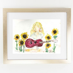 Erika Roberts Studio: 'What Would Dolly Do?' Watercolor Fine Art Print