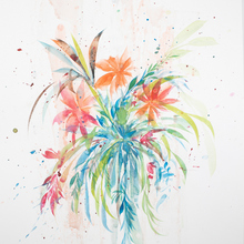 Joshua Sage Newman: Original Watercolor Floral (J)