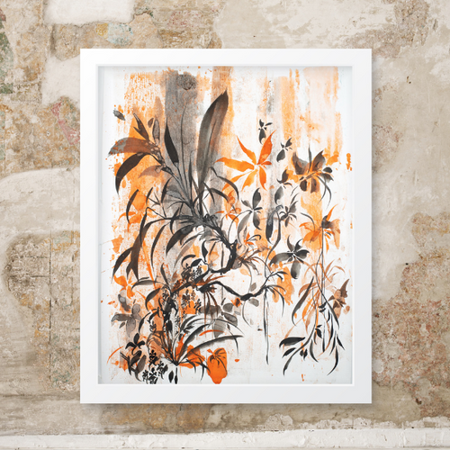 Joshua Sage Newman: Original Watercolor Floral (B)