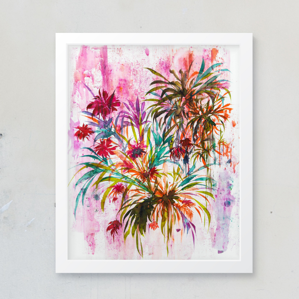 Joshua Sage Newman: Original Watercolor Floral (D)