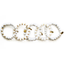 SB + OMI Beads: White Marble Set