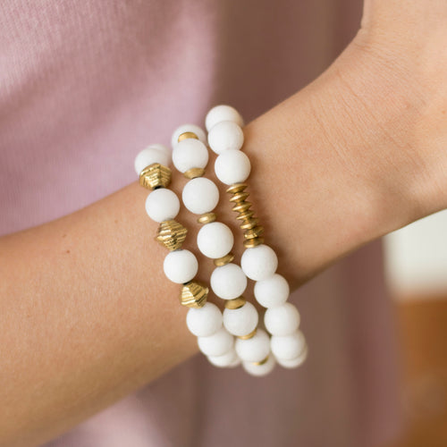SB + OMI Beads: White Set
