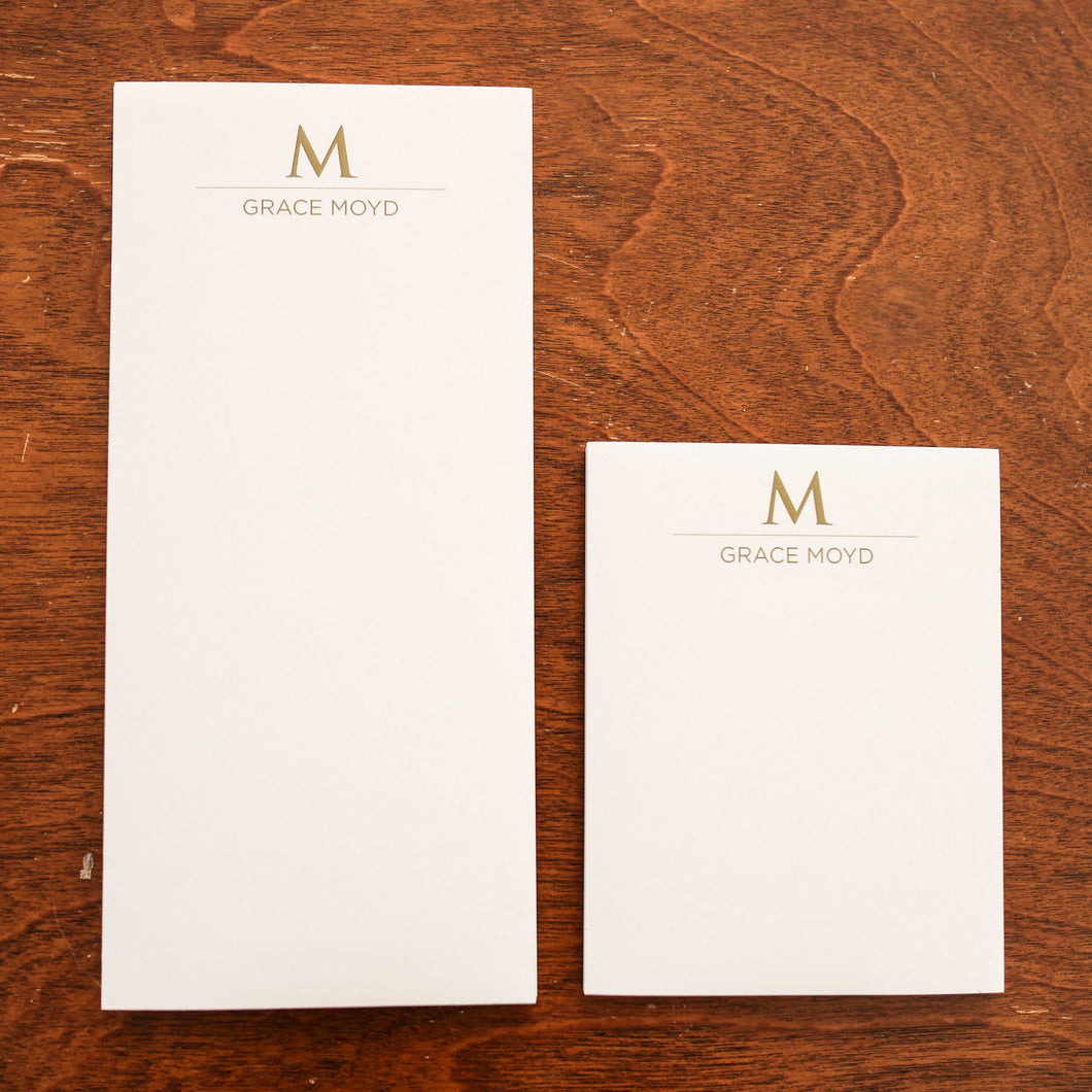 WH Stationery: Long Notepad Set