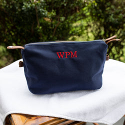 South of Hampton: Red Stripe Dopp Kit