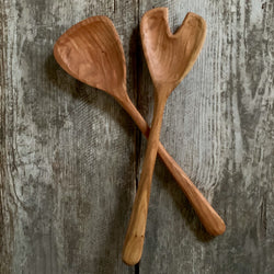 Billet + Blade: Handmade Wooden Salad Servers