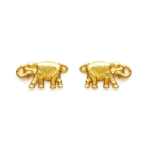 Candy Shop Vintage: Lucky Elephant Earrings (Gold)