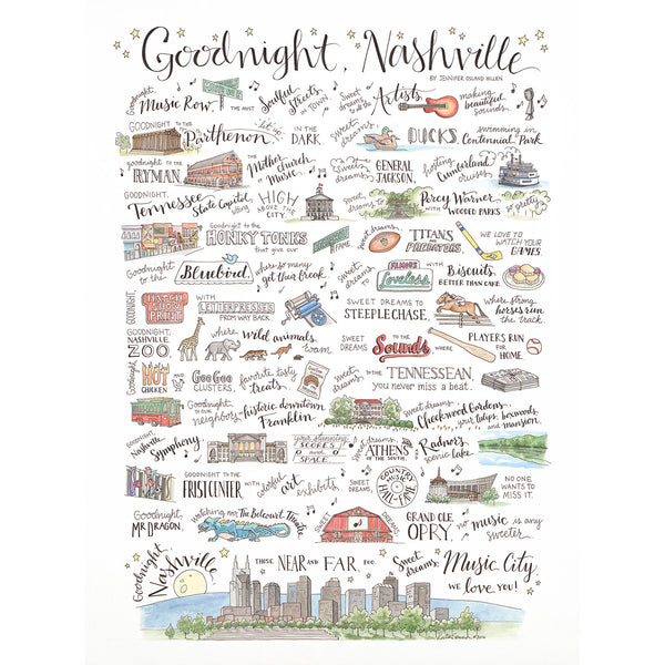 Goodnight Nashville Print