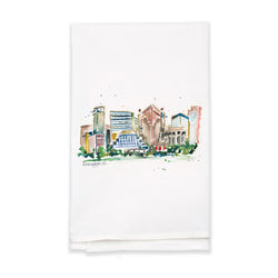 Erika Roberts Studio: Birmingham Watercolor Tea Towel - SB Shop