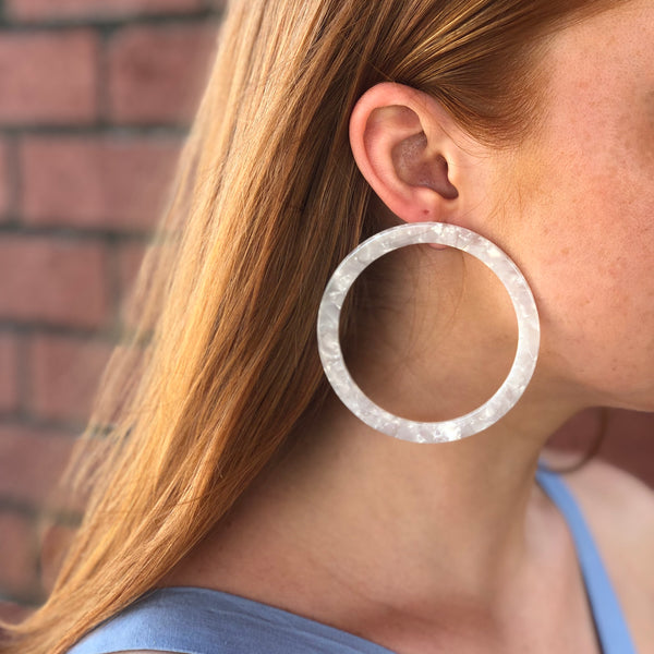 CONNIE N' JACK: Dottie Acrylic Hoops
